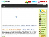 Eslgamesworld.com - Free ESL Fun Games, Interactive Grammar & Vocabulary Games for Classrooms
