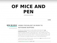 of mice and pen