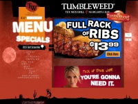 Tumbleweedrestaurants.com - Tumbleweed Tex Mex Grill & Margarita Bar - Index