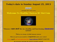 Your Health, Your Life, Your Choice. An information Site on Health, Nutrition and Alternative Medicine