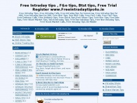 Free Intraday tips , F&o tips, Btst tips,  Free Trial Register www.Freeintradaytips4u.in