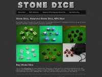 Stone Dice - How to Buy Crystal Caste Stone Dice, Dwarven Stone Dice, and RPG Dice Sets that will keep you rocking hard.