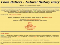 Colin Butters - Natural History Diary