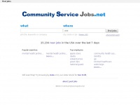 Communityservicejobs.net