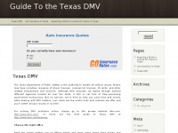 Guide To the Texas DMV