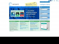 Actant.com - ActantActant - Fully customizable grey box algorithmic trading solutions for market makers and market takers