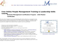 Masterclassmanagement.com - Free Online Business Management Training Course Certificate Program