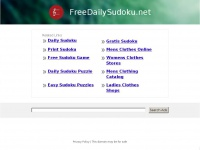Freedailysudoku.net