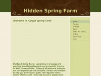 Hiddenspringfarm.net