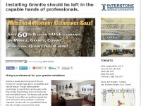 Installing granite requires the attention of a professional - Interstone Marble and Granite Ltd.