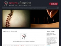 Return to Function | Sports and Injury Rehabilitation Clinic