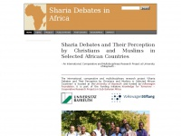 Sharia Debates in Africa - Sharia Debates and Their Perception by Christians and Muslims in Selected African Countries