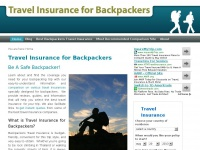 Travelinsuranceforbackpackers.net