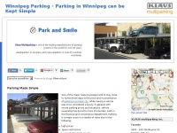 Winnipeg Parking - Parking in Winnipeg can be Kept Simple - KLAUS multiparking Inc.