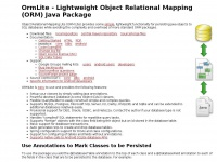OrmLite - Lightweight Object Relational Mapping (ORM) Java Package