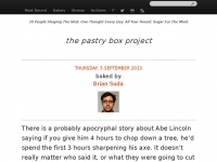 The-pastry-box-project.net