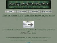 Bakerauthentication.com - Baker Authentication, Indian arrowhead, pottery certification, COA,  certificate