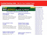 Football Betting Odds | - Bet On Your Football Team