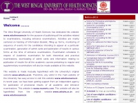Wbuhsexams.in - WBUHS - THE WEST BENGAL UNIVERSITY OF HEALTH SCIENCES