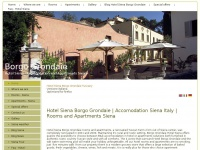 Hotel Borgo Grondaie Siena with rooms and apartments Hotel Borgo Grondaie Siena