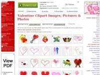 Valentine Clipart, Pictures & Images - Love, Romance, Hearts, Roses, Couples in Love, Flowers and Cupid Too