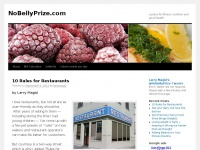 NoBellyPrize.com | a place for fitness, nutrition and good health