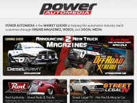 Welcome to the POWER Automedia Network, The Market Leader in Online Magazines