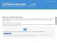 YouTube to MP3 Converter - Fast, Free - ListenToYouTube.com