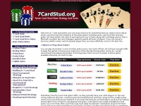 7 Card Stud - Seven Card Stud Poker Strategy And Rules