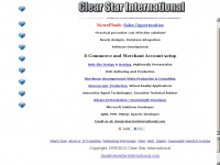 Clear Star International. Computer Consulting, Openinsight Developers, Web Technologies, Software Development, Needs Analysis, Practical pro-active cost effective solutions