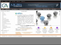 A.K.JHA & Associates | Chartered Accountants in Noida | Taxation Services | Auditing |Accountancy Support | CA Firm in india.