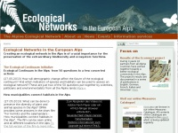 Ecological Networks in the European Alps — Website