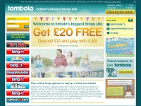 Play bingo online get £20 FREE when you join tombola bingo today!