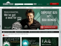 Online Poker | Play and learn Texas Hold'em and Omaha at Everest Poker