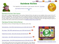 Rainbow Riches online slots, get up to £500 free bonus money