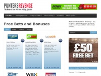Punters Revenge | The Home of Money Back Specials and Free Bets