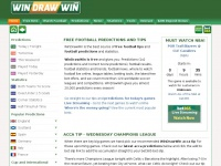 WinDrawWin.com - Free Worldwide Football and Soccer Tips and Free Bet Offers