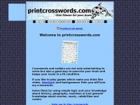 Welcome to PrintCrosswords.com! -Print crosswords and sudoku for free here