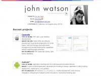 John Watson, freelance web developer for hire