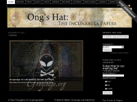 Welcome- The Incunabula Papers: Ong's Hat