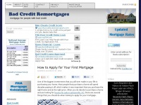 Bad Credit Remortgages