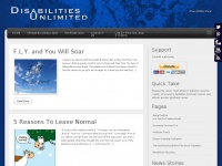 Disabilities Unlimited | Inspirational and motivational website to show the unlimited possibilities in all of us.