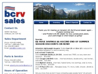 BC RV Sales your number one RV Dealer offering used and new motorhomes, truck campers, toy haulers, rv trailers and travel trailers in Chilliwack, BC.