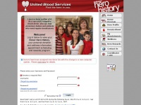 Blood4life.org - Donor Login - The Hero in You