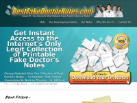 Bestfakedoctornotes.com - Fake Doctor's Notes & Excuses, Templates for Blank