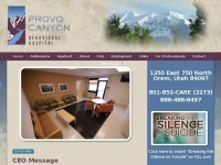 Pcbh.com - Provo Canyon Behavioral Hospital Psychiatric Treatment Mental Health Salt Lake City, Provo, Orem, Utah