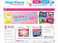 Bingo Friends - make new friends - Double your first deposit up to £50!