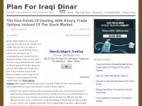 Plan For Iraqi Dinar