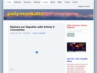 PolyMontana | Montana Conservative Politics by Dr. Ed Berry