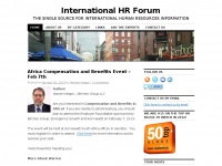 International HR Forum | THE SINGLE SOURCE FOR INTERNATIONAL HUMAN RESOURCES INFORMATION